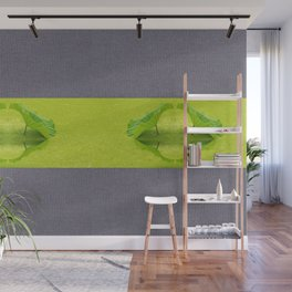 Leaves reflection throw Strips Wall Mural