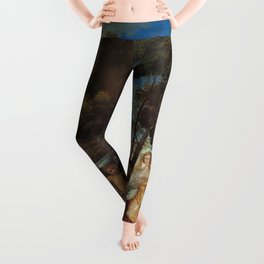 The Feast of the Gods Painting by Giovanni Bellini and Titian Leggings