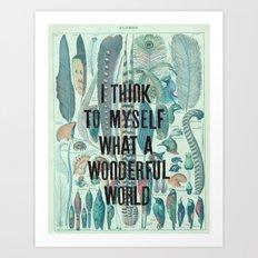 Wonderful World Art Print