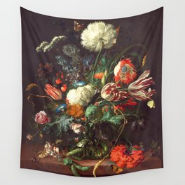Vase of Flowers II - de Heem Wall Tapestry