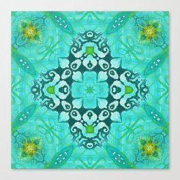 Tile Pattern in Turquoise Canvas Print