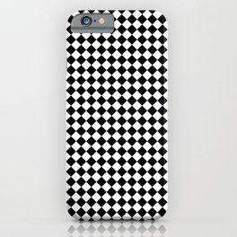 Small Diamonds - White and Black iPhone Case