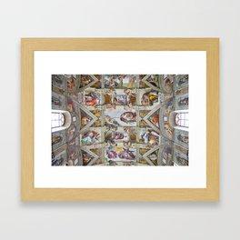 "Michelangelo ""Sistine Chapel ceiling"", Framed Art Print"
