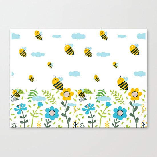 Bee Flaying Canvas Print