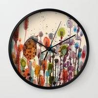andreas preis Wall Clocks featuring je suis là by sylvie demers