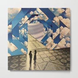 Dimensional clouds Metal Print