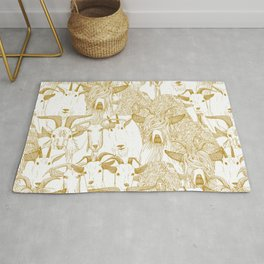 just goats gold Rug