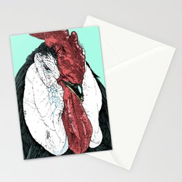Rooster II Color Stationery Cards