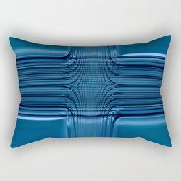 Blau Glas Rectangular Pillow