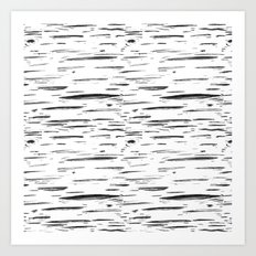 Birch Black and White Art Print