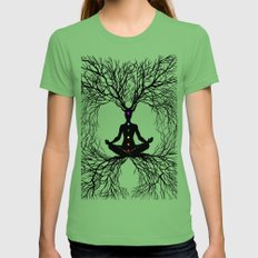 Tree of Life Grass Womens Fitted Tee SMALL