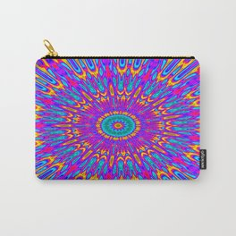 Happy Colors Explosion Psychedelic Mandala Carry-All Pouch