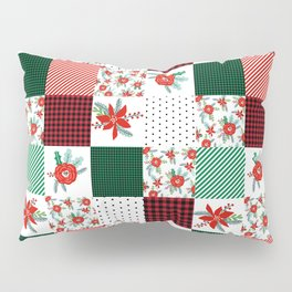 Plaid quilt pattern outdoors nature forest christmas holidays gifts Pillow Sham