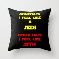 sith Throw Pillows featuring Feel Like Sith by Kramcox