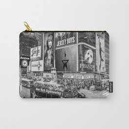 Times Square II (B&W widescreen) Carry-All Pouch