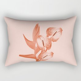Anthurium and Heliconia Flowers Rectangular Pillow