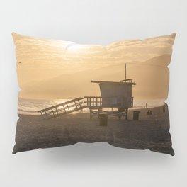 Scenic Zuma Beach vista at sunset Pillow Sham
