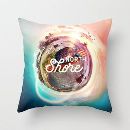 Planet NorthShore Throw Pillow