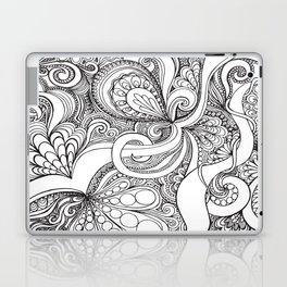 Black and White Paisley Laptop & iPad Skin