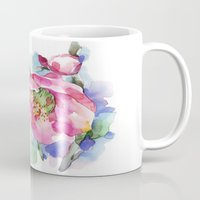 cherry blossom Mugs featuring Cherry Blossom by A cup of grey tea