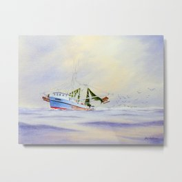Shrimp Boat On The Gulf Metal Print
