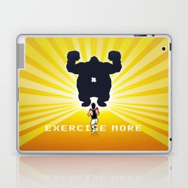 Exercise more. A PSA for stressed creatives. Laptop & iPad Skin