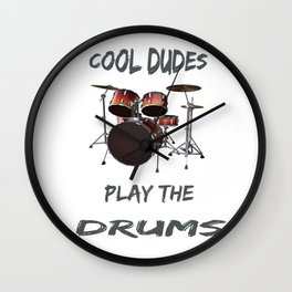 Cool Dudes Play The Drums For The Family Drum Major Wall Clock