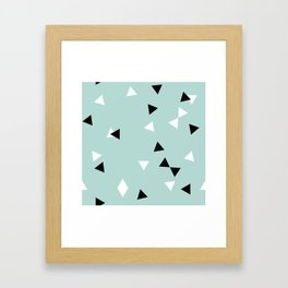 Simple Geometry / Triangles Framed Art Print