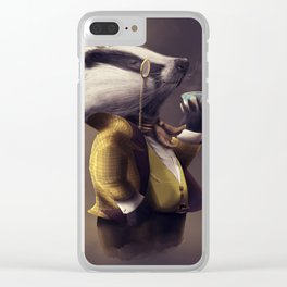 Old English Clear iPhone Case