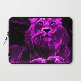 Animal ArtStudio - fiery lion, pink Laptop Sleeve