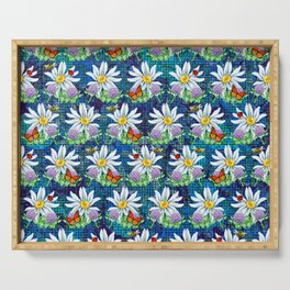 Flowers and bugs pattern Serving Tray