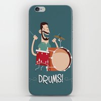 drums iPhone & iPod Skins featuring Drums! by soy8bit