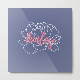 Kinley - Slate Coral Metal Print