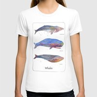 whales T-shirts featuring Whales by Lene Daugaard