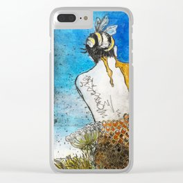 Bee woman (honeycomb ii) Clear iPhone Case