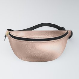 Rose Gold Metallic Texture Fanny Pack