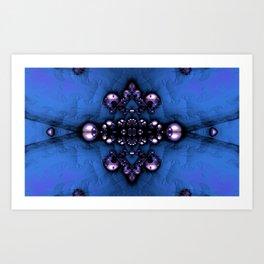 Regal Brooch Blue Art Print