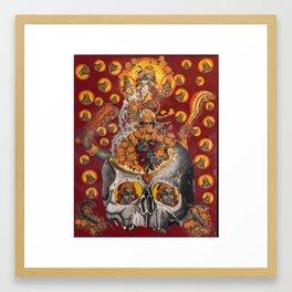 floral fires over scorpio Framed Art Print