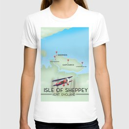 Isle of Sheppey map T-shirt