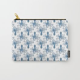 Octopus blue watercolor pattern - Lo Lah Studio Carry-All Pouch