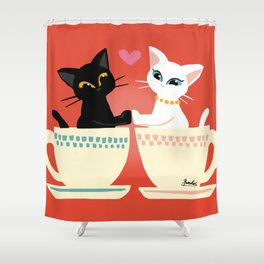 Pair cup Shower Curtain