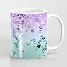 Mermaid Lady Glitter Stars #4 #shiny #decor #art #society6 Coffee Mug