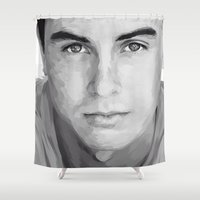 ryan gosling Shower Curtains featuring ryan kelley by Finduilas