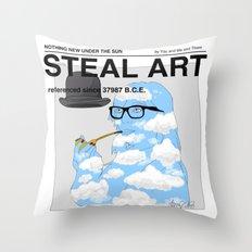 STEAL ART Throw Pillow