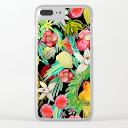 Tropical Paradise Clear iPhone Case