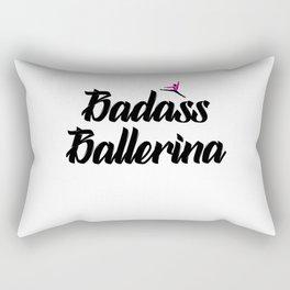 badass ballerina Rectangular Pillow