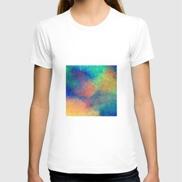 Reflecting Multi Colorful Abstract Prisms Design T-shirt