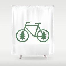 Pacific Northwest Cycling - Bike, Bicycle, Portland, PDX, Seattle, Washington, Oregon, Portlandia Shower Curtain