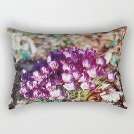 Crocuses Rectangular Pillow