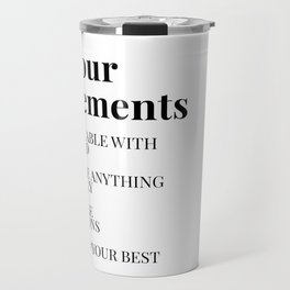 the four agreements Travel Mug